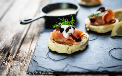Scotch Pancakes with Smoked Salmon for Burns