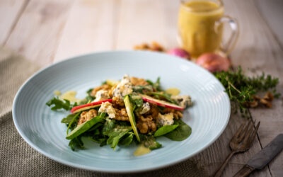 Apple and Walnut Salad with Thyme Vinaigrette